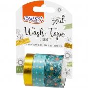 Fita Adesiva Decorada Washi Tape 10/15/20x3 Shine Vd - BRW