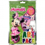 Livro Infantil Colorir Minnie Art Pack C/ Adesivo e Lápis
