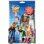 Livro Infantil Colorir Toy Story 3 Art Pack C/ Adesivo e Lápis