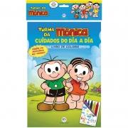 Livro Infantil Colorir Turma da Monica C/Giz de Cera