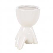 Vaso Decorativo Para Suculenta Robert Plant De Cerâmica