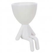 Vaso Decorativo Robert Plant Para Suculentas Plástico Branco