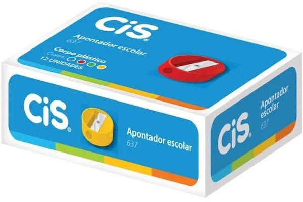 Apontador Sem Depósito CIS 637 Redondo Plástico