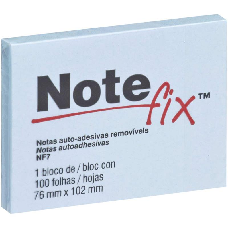 Bloco de Recado Autoadesivo Notefix Azul 76x102mm 100Fls
