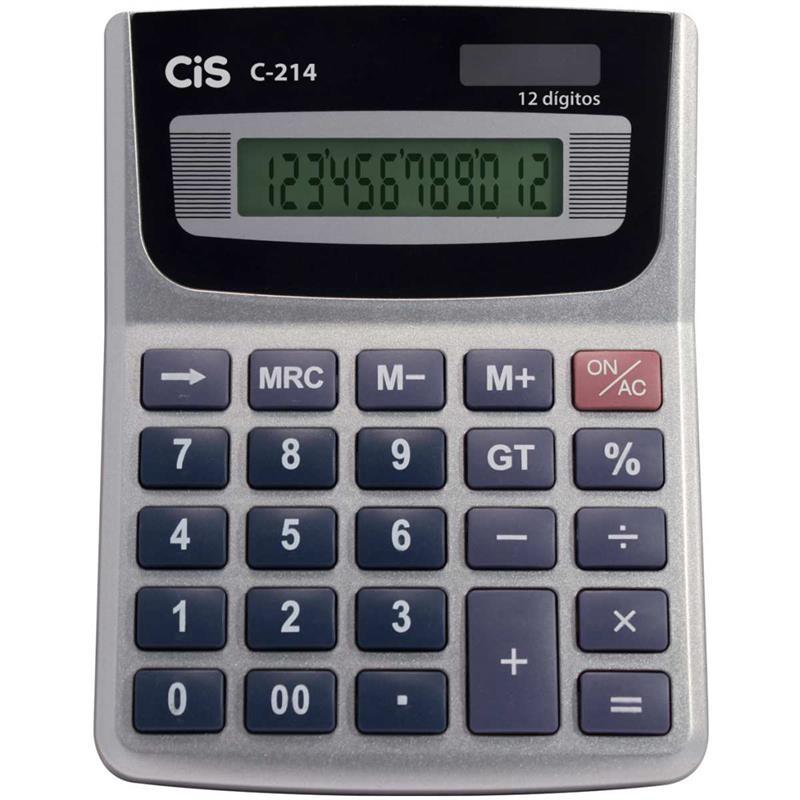 Calculadora de Mesa 12 Dígitos Cis C-214
