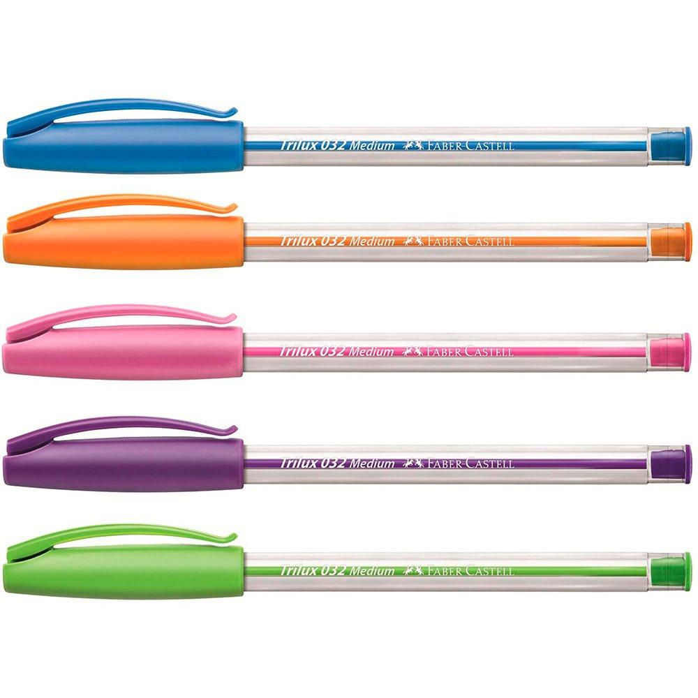 Caneta Esferográfica Trilux Colors 1.0mm 3 Cores - Faber-Castell