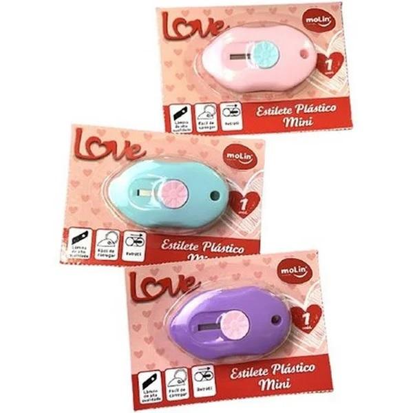 Estilete Estreito Love Heart Mini 3 Cores - Molin