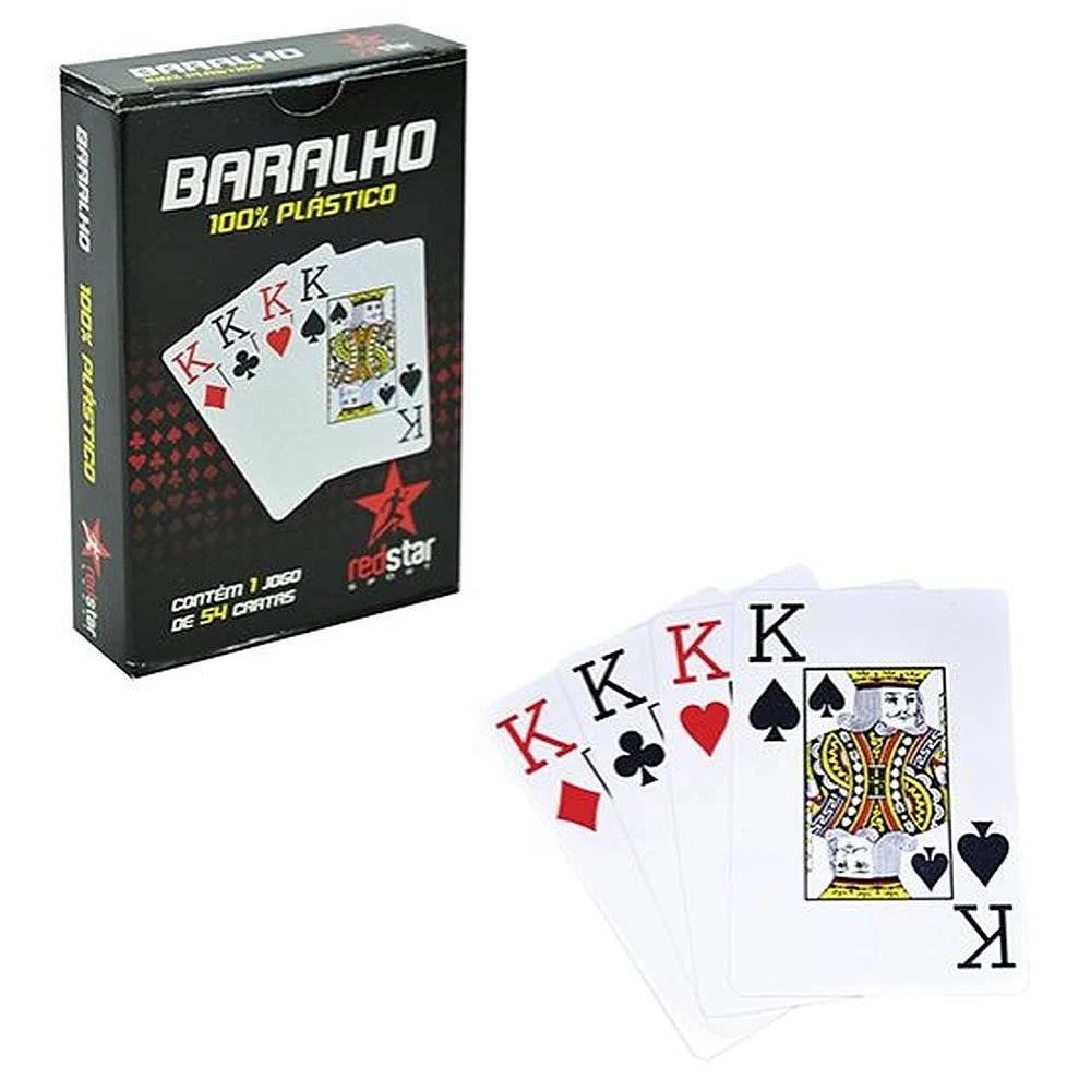 Jogo De Baralho Com 54 Cartas Redstar Sport