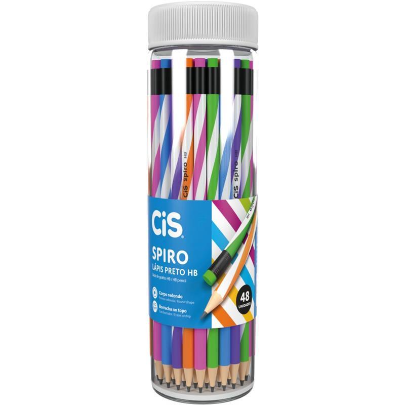Lápis Preto Decorado Cis Spiro HB
