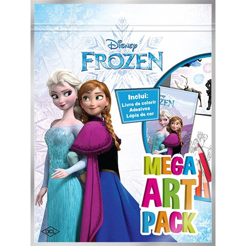 Livro Infantil Colorir Frozen Mega Art Pack