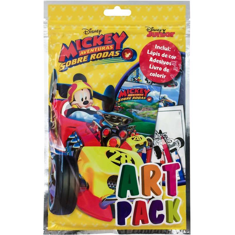 Livro Infantil Colorir Mickey Art Pack C/ Adesivo e Lápis
