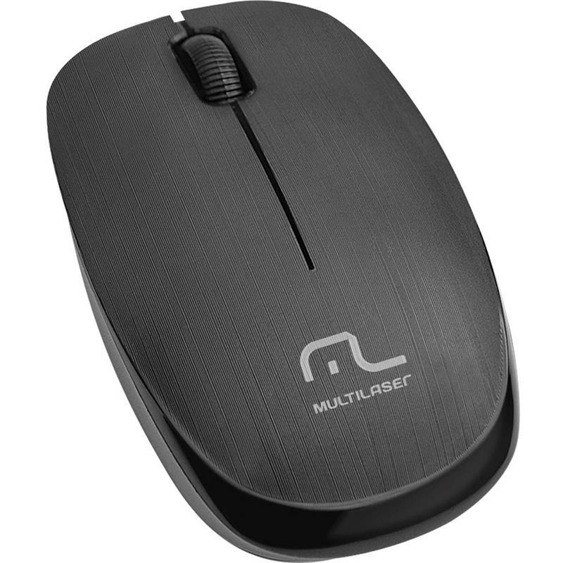 Mouse Óptico Sem Fio 1200DPI 2.4GHZ Preto Multilaser