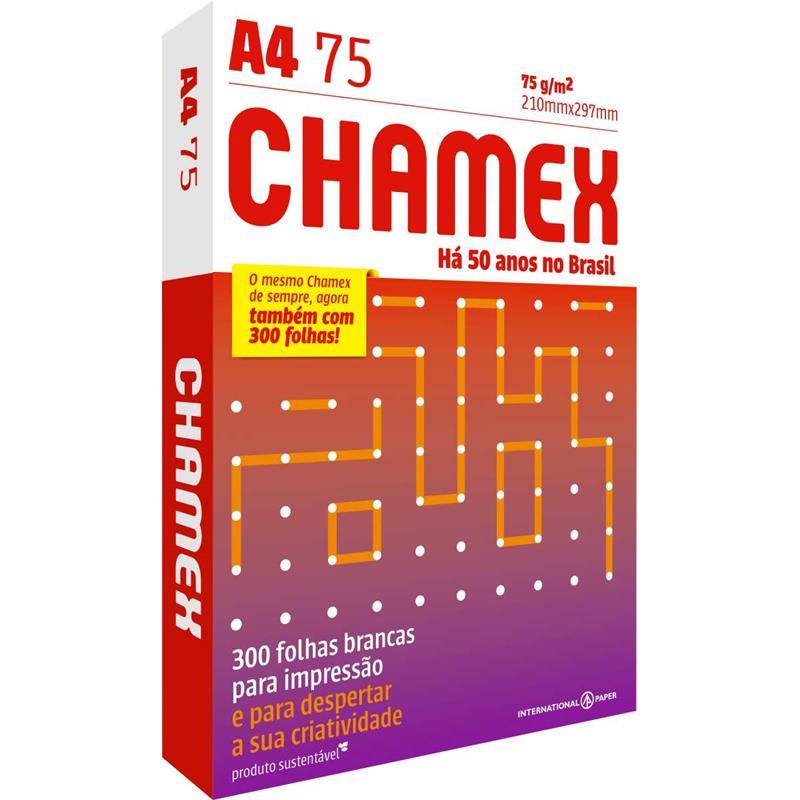 Papel Sulfite A4 Chamex 75g/m² - 300 Folhas