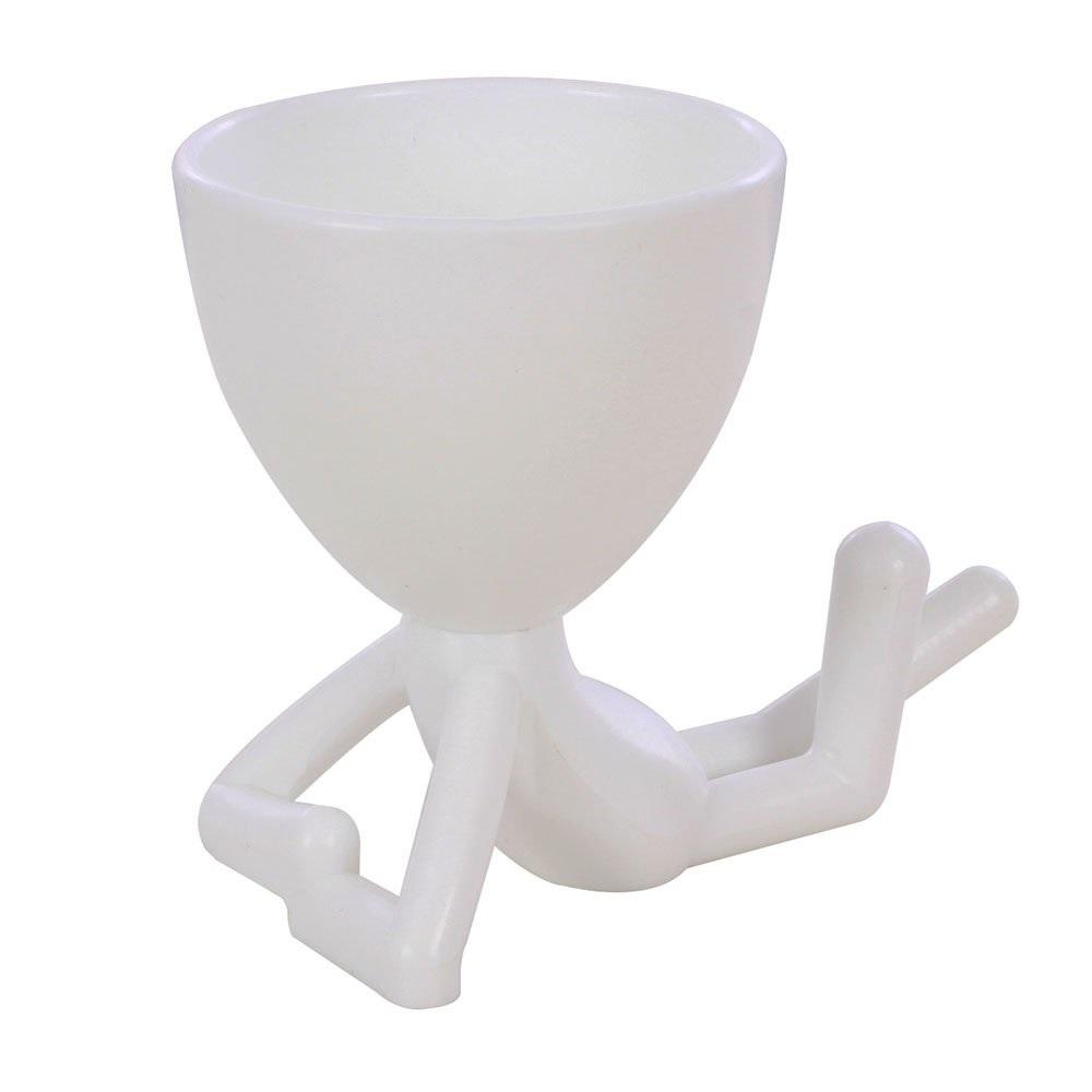 Vaso Decorativo Robert Plant Deitado Suculentas Plástico Preto