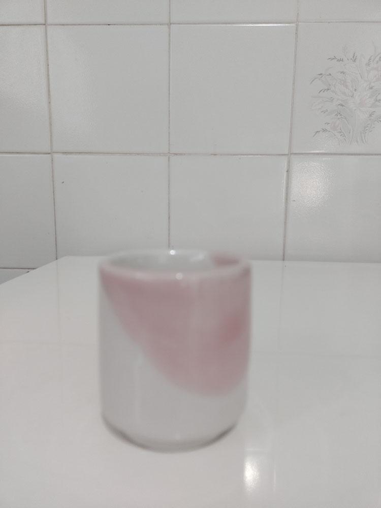 Xícara De Café Porcelana Reta Colorida 75ml