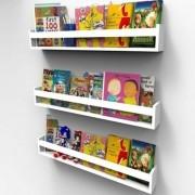 Prateleira para Livros Infantil Montessoriano 40cm - 3 peças