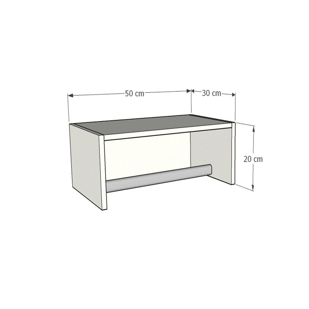 Cabideiro Closet 50cm c/ 2 peças