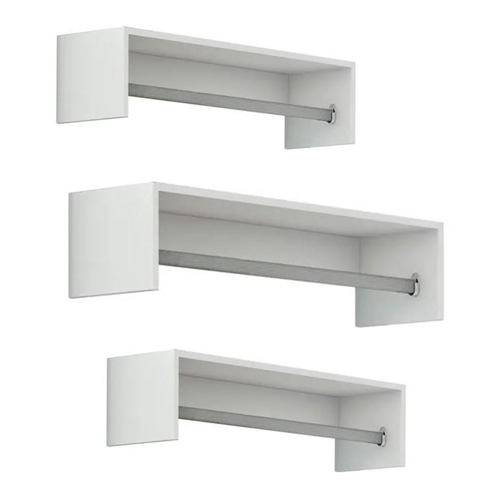 Cabideiro Closet 50cm c/ 3 peças