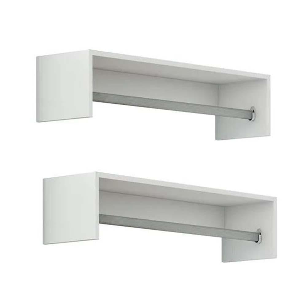 Cabideiro Closet 90cm c/ 2 peças