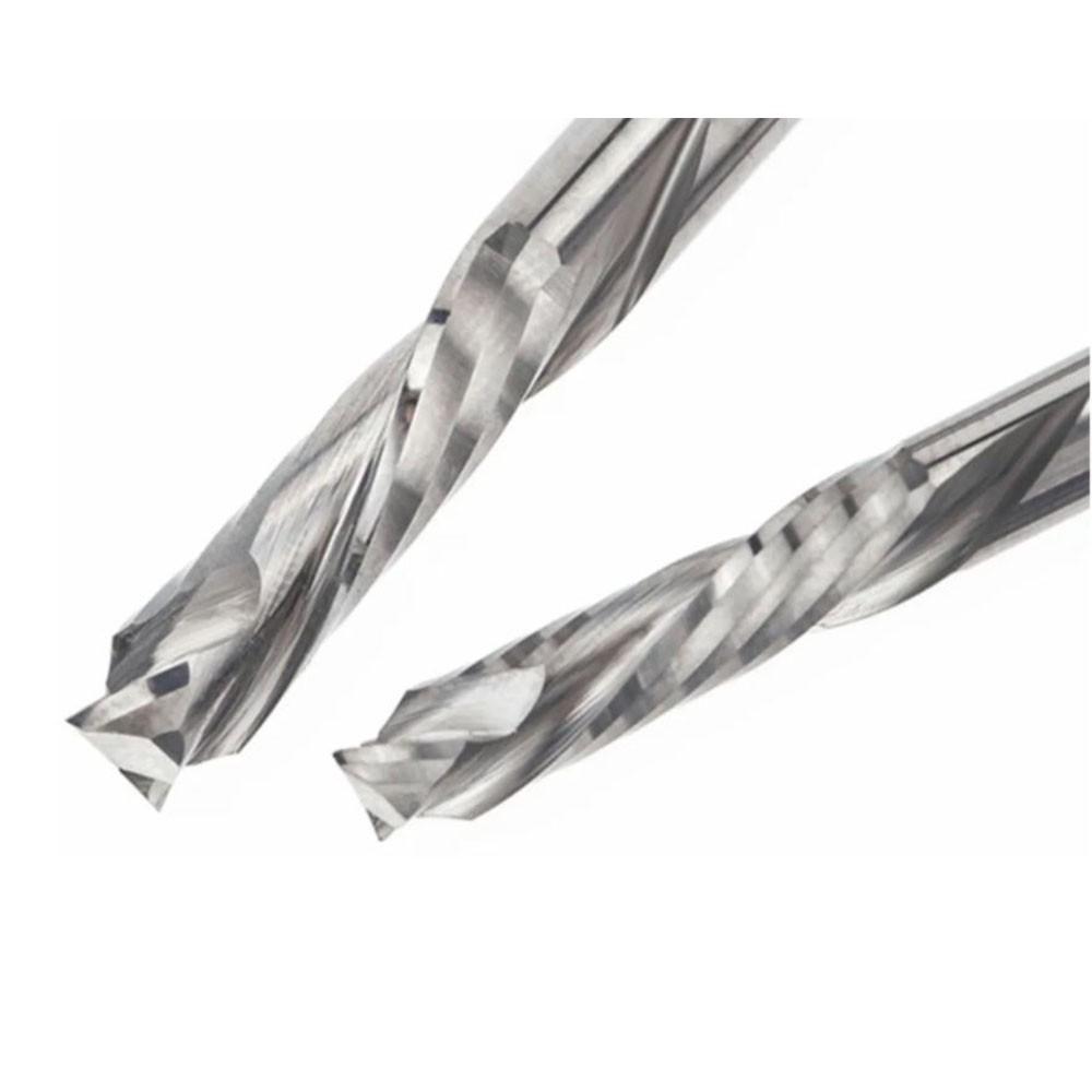 Fresa de 2 cortes Up e Down Cut 3.175mm x 22mm Metal Duro