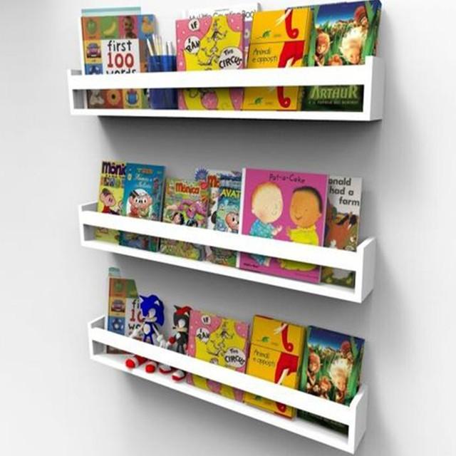 Prateleira para Livros Infantil Montessoriano 50cm - 3 peças