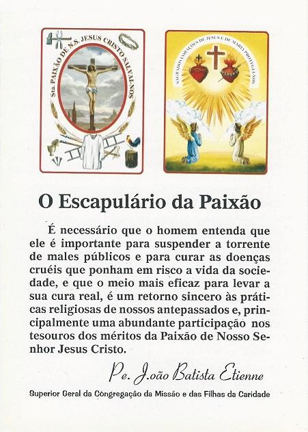 Escapulário da Paixão - Folheto