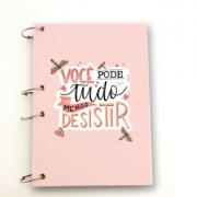 Caderno Argolado -Você pode tudo