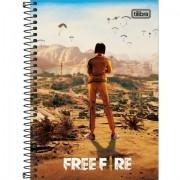 Caderno Espiral Universitário Capa Dura 1M Free Fire 80 Folhas - Unidade