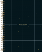 Caderno Espiral Capa Dura Colegial 1 Matéria West Village Geométrico 80 Folhas