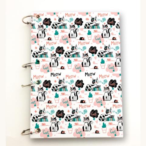 Caderno Argolado Cats A4