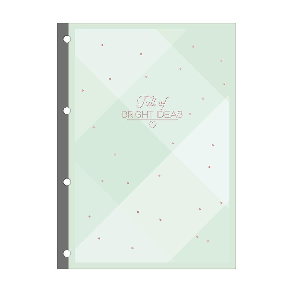 Caderno argolado A4 -INSISTA PRETO