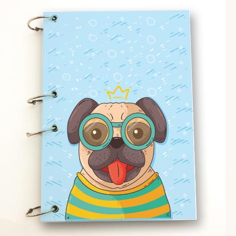 Caderno Argolado A4 Pug