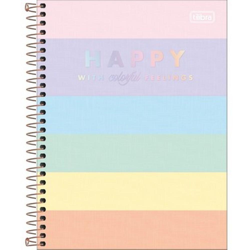 Caderno espiral capa dura Colegial Happy Tilibra - Unidade