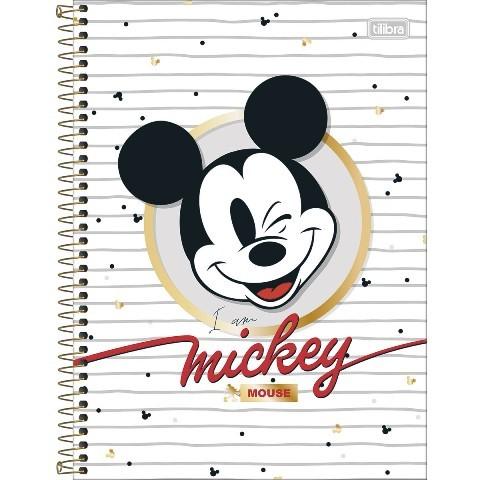 Caderno Espiral Capa Dura Universitário 10 Matérias Mickey 160 fls - Unidade