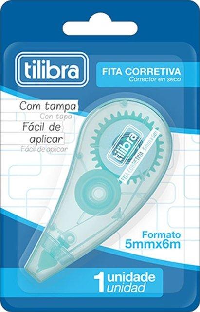Corretivo em Fita Aqua  5mmx6m Tilibra