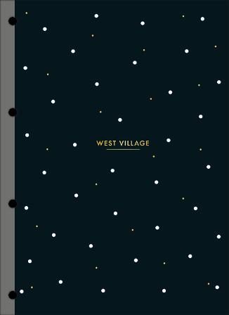 Refil Tiliflex para Caderno Argolado Cartonado Universitário West Village 80 Folhas