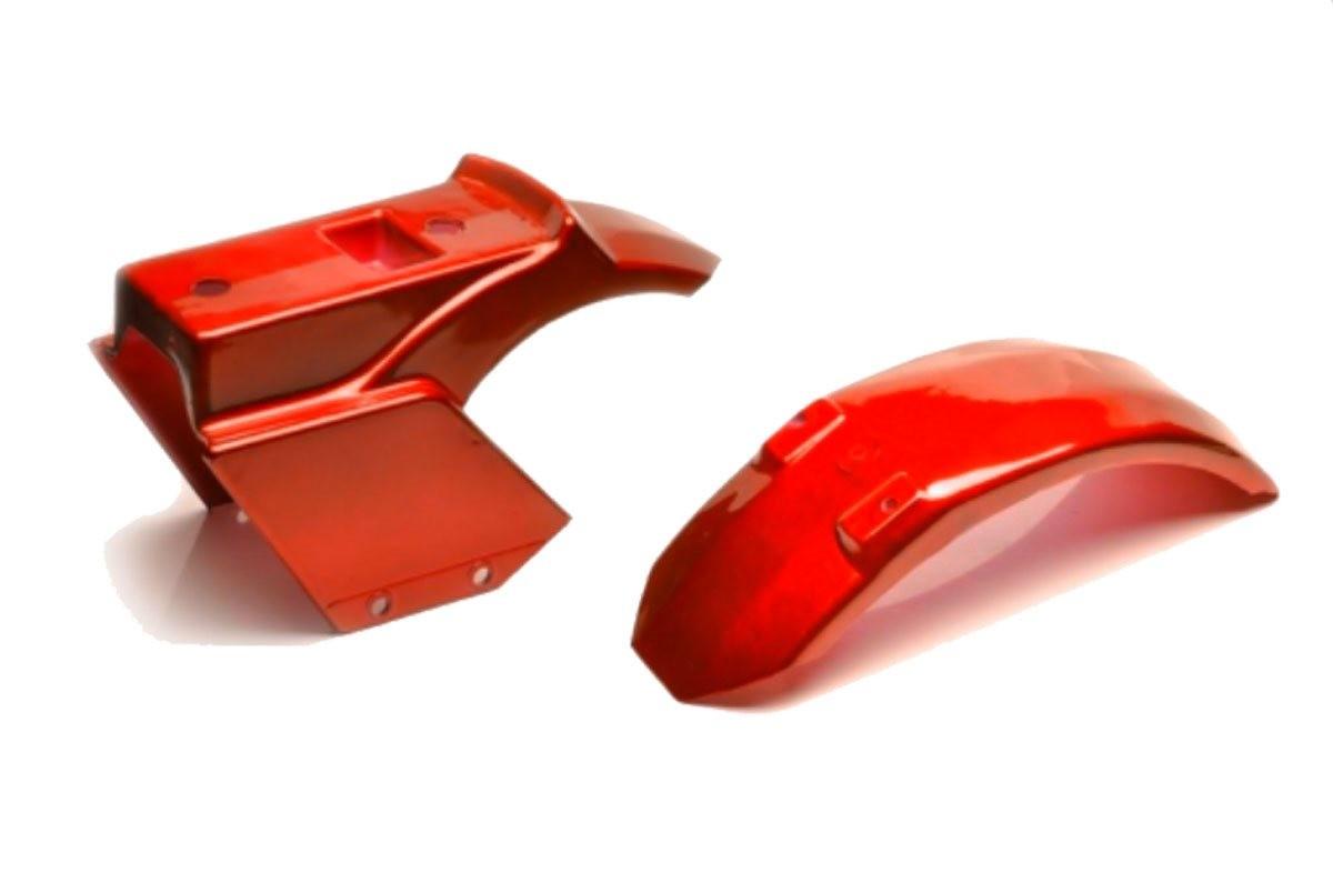 Carenagem com Paralama Vermelho para Walk Machine