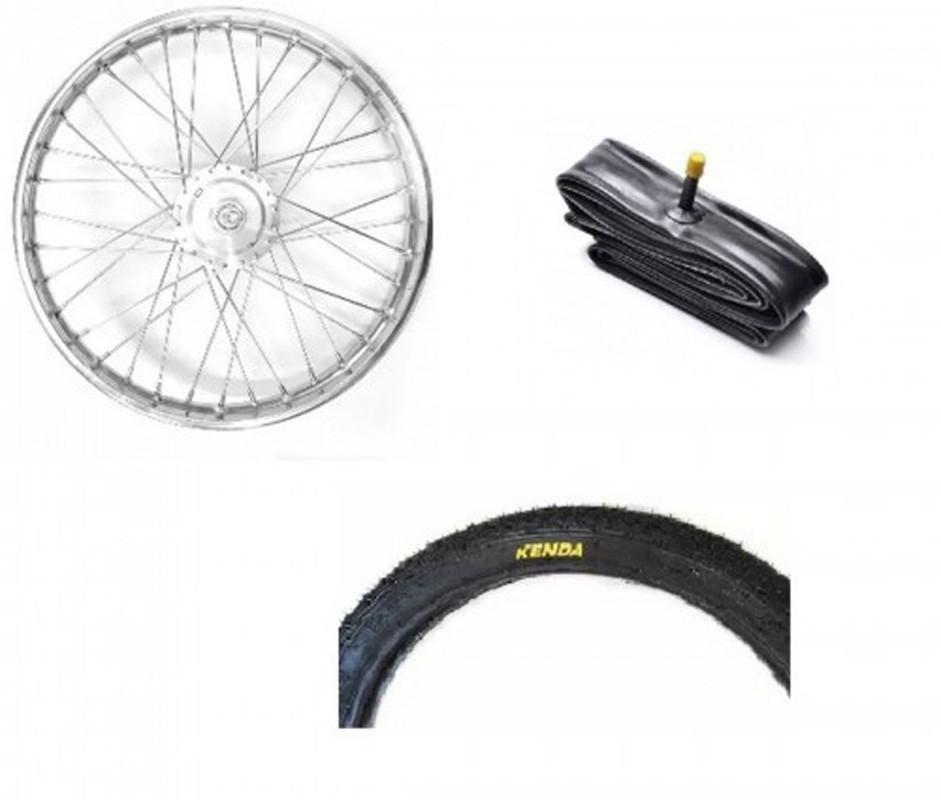 Kit pneu + camara + roda diant completa Mobilete / Bikelete