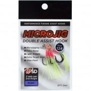 Assist Hook Microjig Double com Flash WSD Fishing