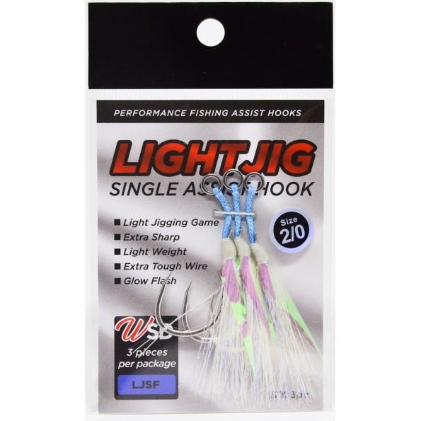 Assist Hook LIGHT JIG Single WSD Fishing