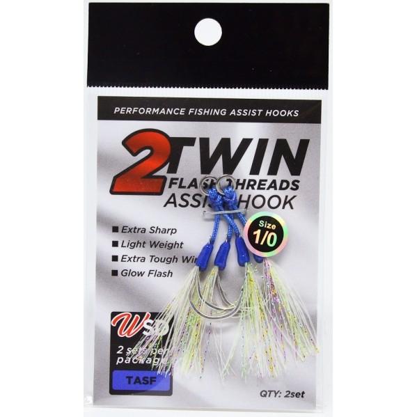 Assist Hook Twin com Flash WSD Fishing