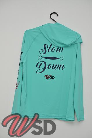 Camiseta Slow Down modelo Samurai by Fishing Co Verde Agua