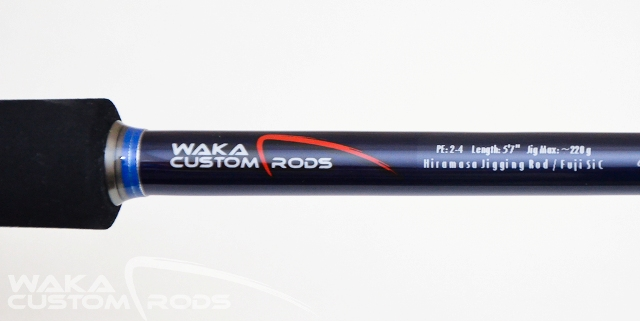 "Vara Waka Custom Rods Hiramasa Jig 220 g PE3-4 5'7"" para Molinete"