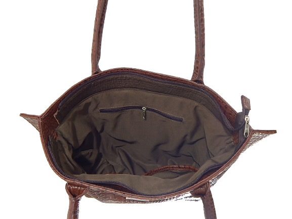 Bolsa de Couro Croco Fashion Zup