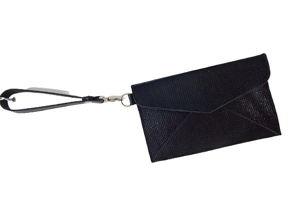 Bolsa de Couro Preta fashion and pouch Zup