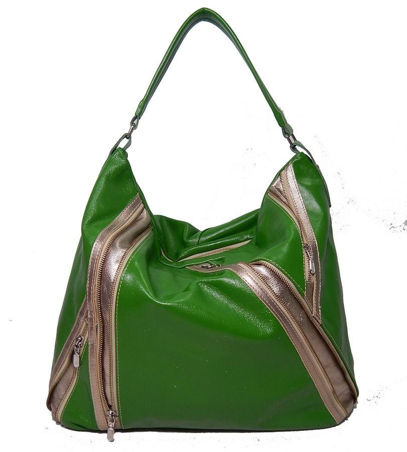 Bolsa de Couro Ziper Fashion Zup