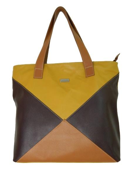 Bolsa Feminina de Couro Fashion Triangle Zup