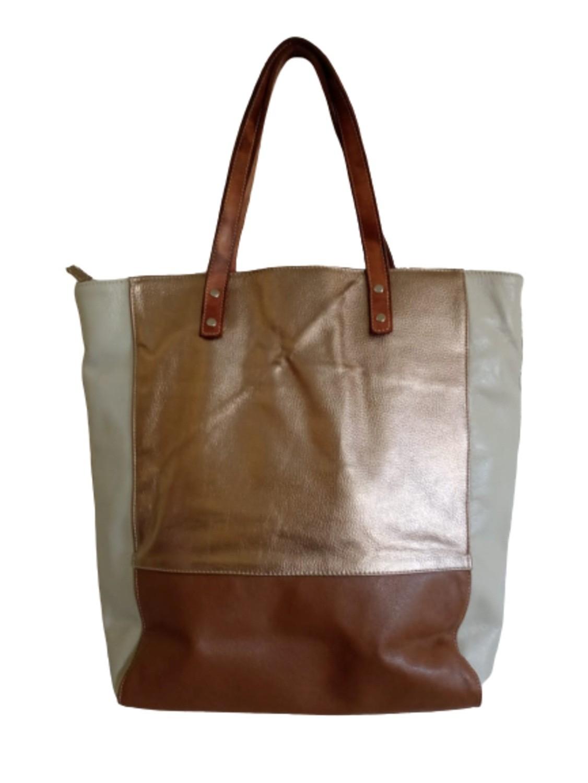Bolsa Shopbag Feminina de Couro Zup