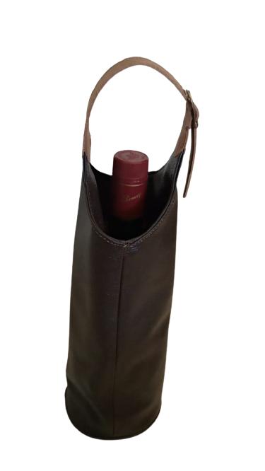 Porta Vinho de Couro 1G Zup