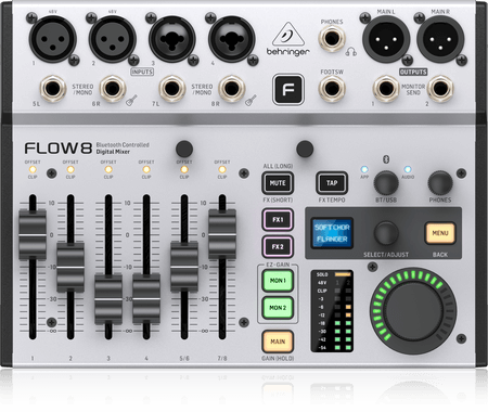 Flow 8 - Mixer Digital 8 Canais Behringer